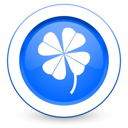 four fourleaf: four-leaf clover icon Stock Photo