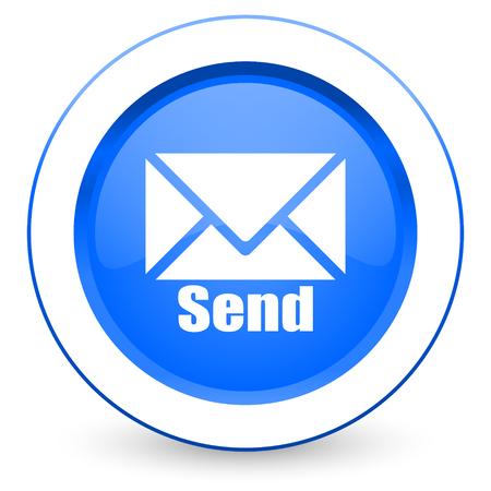 send: send icon post sign Stock Photo