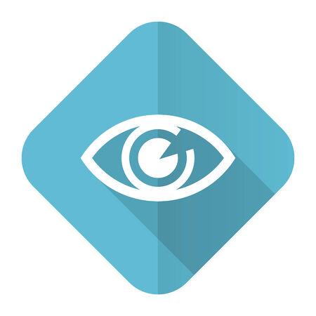 eye flat icon view sign photo