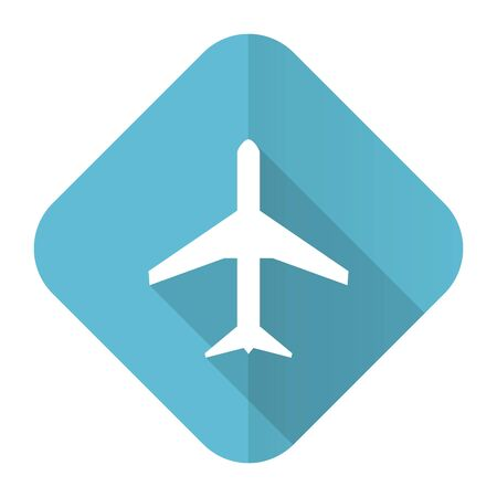 airport sign: plane flat icon airport sign