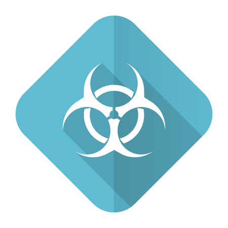 biohazard flat icon virus sign photo