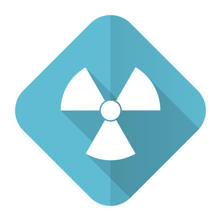 radiation flat icon atom sign photo