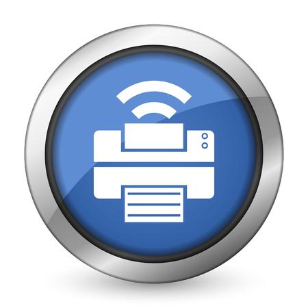 printer icon wireless print sign photo