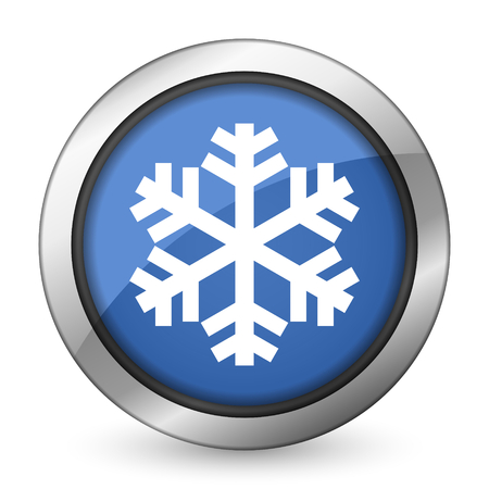 snow icon air conditioning sign photo