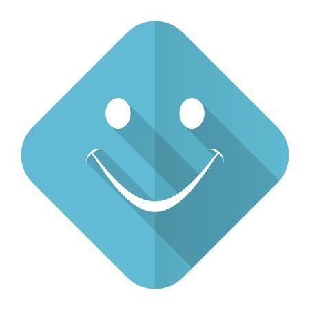 smile flat icon photo