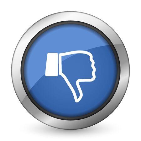 dislike icon thumb down sign photo