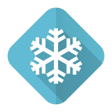 snow flat icon air conditioning sign photo