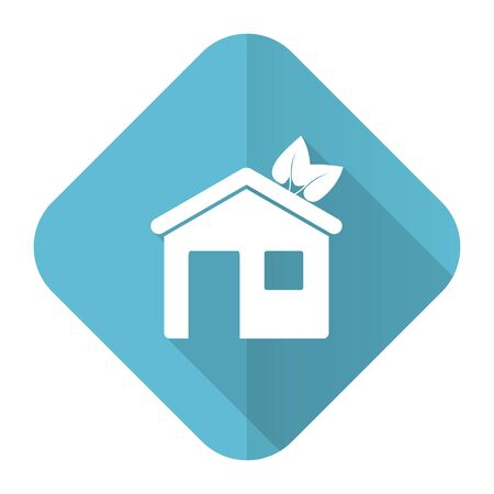 house flat icon ecological home symbol photo