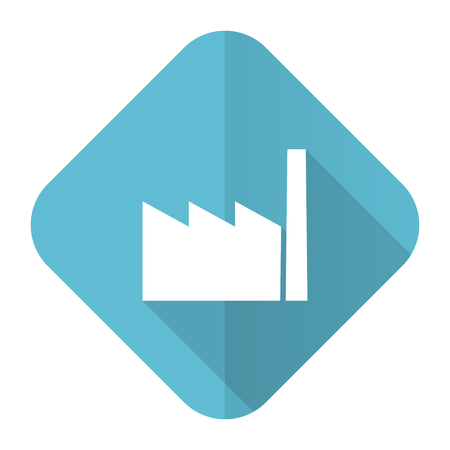 industrialist: factory flat icon industry sign manufacture symbol