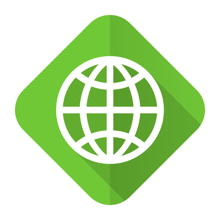 parallels: earth flat icon Stock Photo