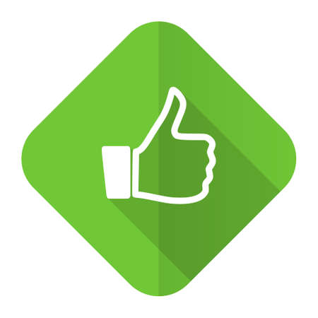 like flat icon thumb up sign photo