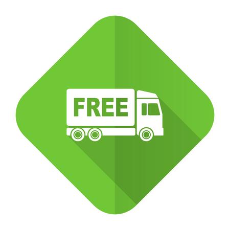 d�livrance: livraison gratuite ic�ne plat signe de transport Banque d'images