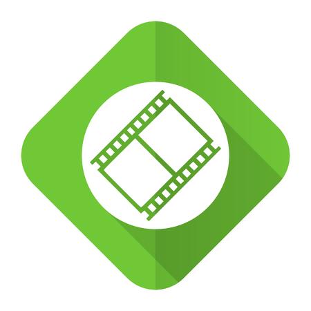 movie sign: pel�cula icono plana s�mbolo de cine cine