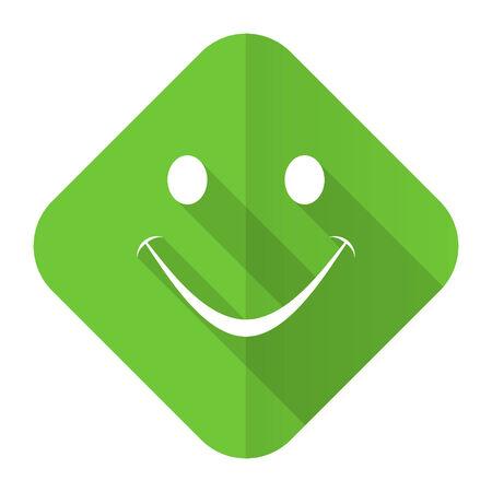 yea: smile flat icon Stock Photo