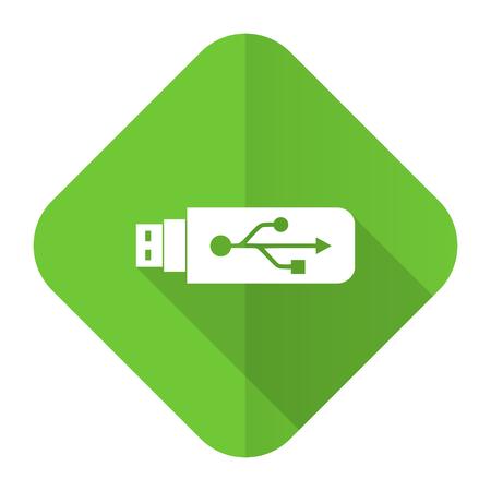 flash memory: usb flat icon flash memory sign Stock Photo