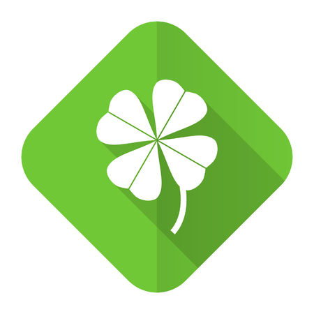 four-leaf clover flat icon photo