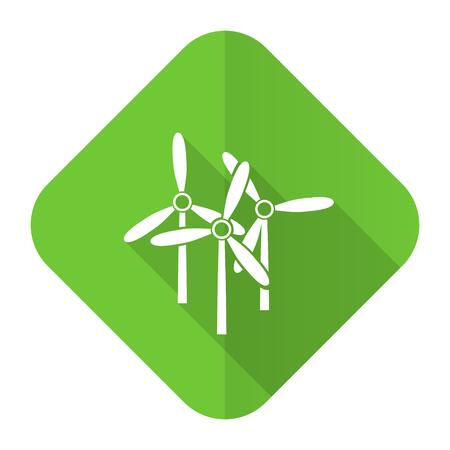 windmill flat icon renewable energy sign photo