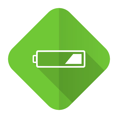 Battery Flat Icon Charging Symbol Power Sign Stock Photo Picture