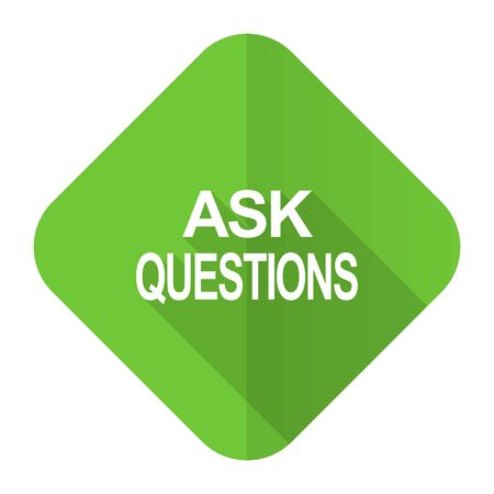 ask: ask questions flat icon