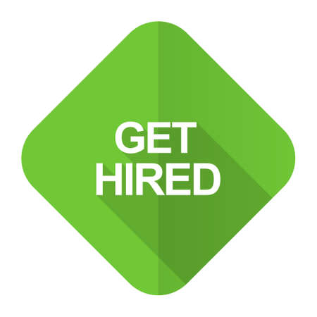 hired: get hired flat icon