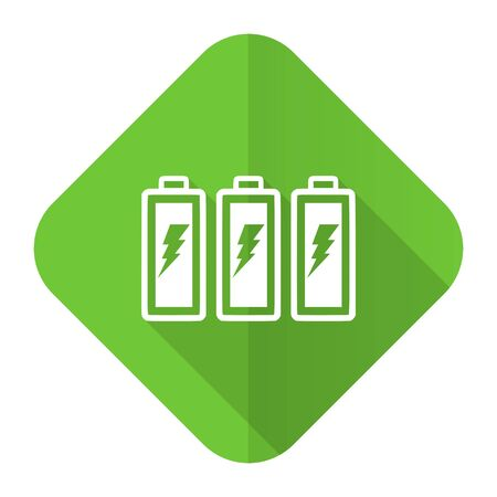 accuse: battery flat icon power sign Stock Photo