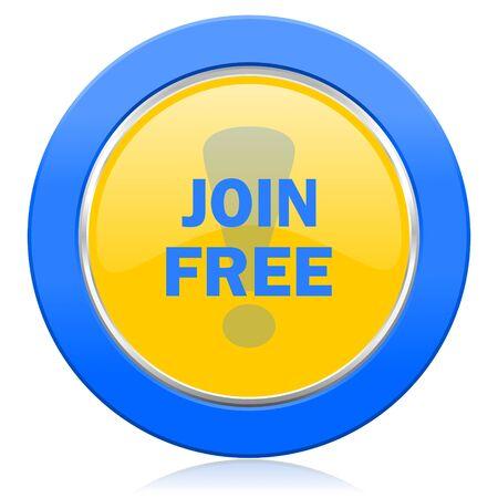 join free blue yellow icon photo