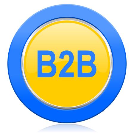 b2b: b2b icono amarillo azul