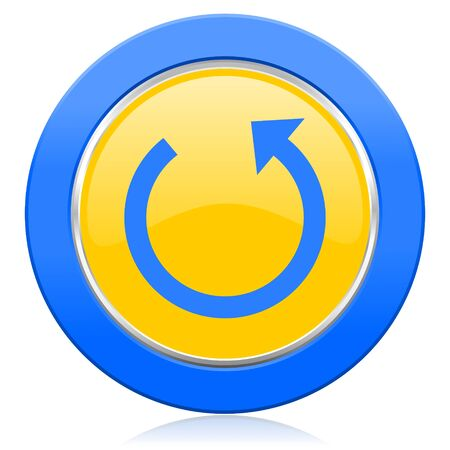 rotate: rotate blue yellow icon reload sign