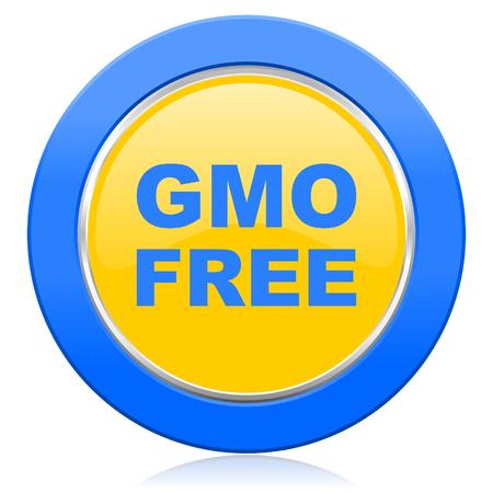 gmo: gmo free blue yellow icon no gmo sign
