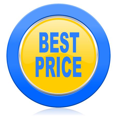 best price: best price blue yellow icon Stock Photo