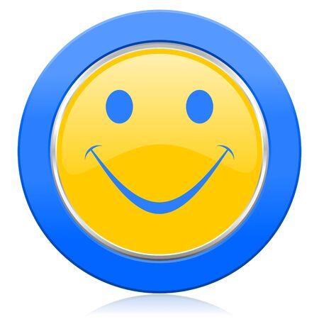 smile blue yellow icon photo