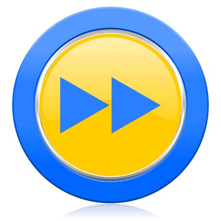 rewind: rewind blue yellow icon