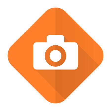camera orange flat icon photo
