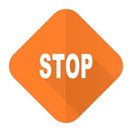 proscribed: stop orange flat icon