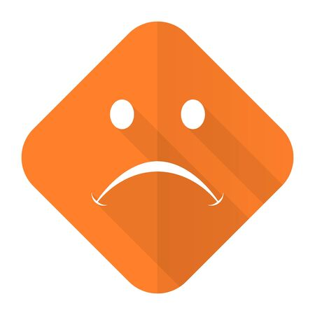negate: cry orange flat icon Stock Photo