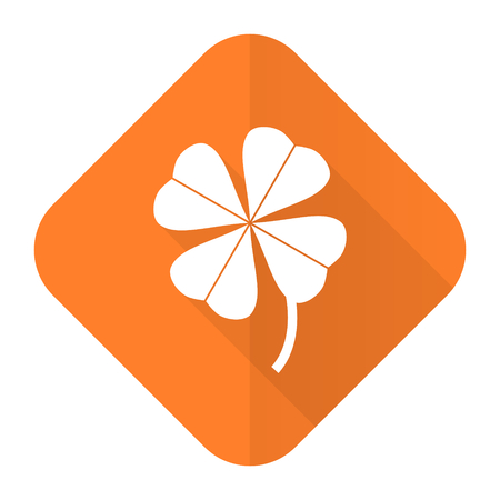 four-leaf clover orange flat icon photo