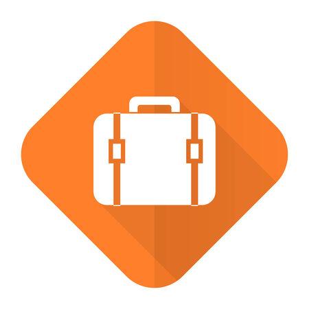 bag orange flat icon luggage sign photo