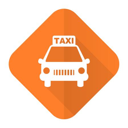 taxi orange flat icon photo