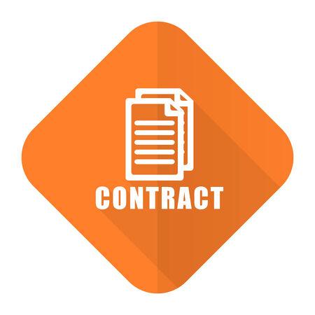 pacto: contratar naranja icono plana
