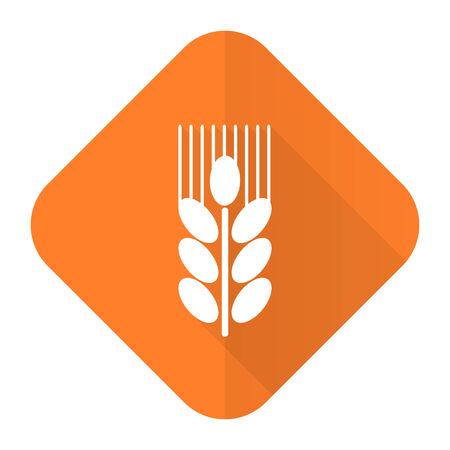 grain orange flat icon agriculture sign photo