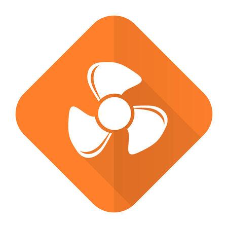 airflow: fan orange flat icon Stock Photo