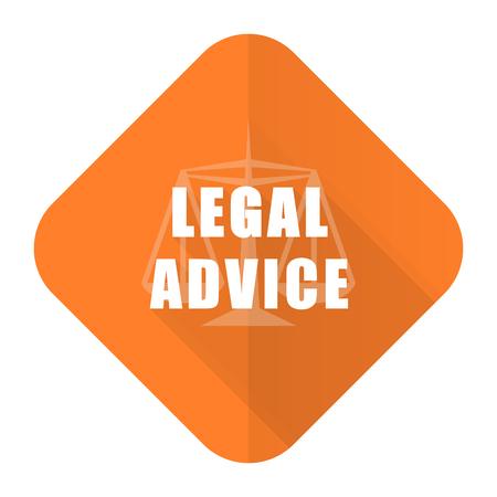 asesoria legal: naranja asesoramiento jur�dico icono plana signo ley