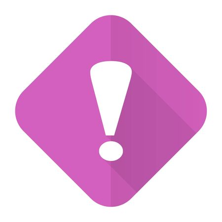 exclamation sign: exclamation sign pink flat icon warning sign