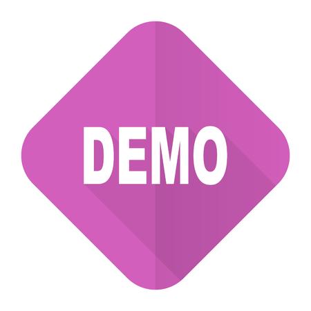 demo: demo pink flat icon
