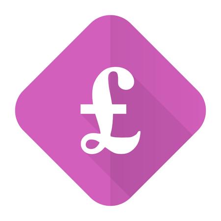 pound pink flat icon photo