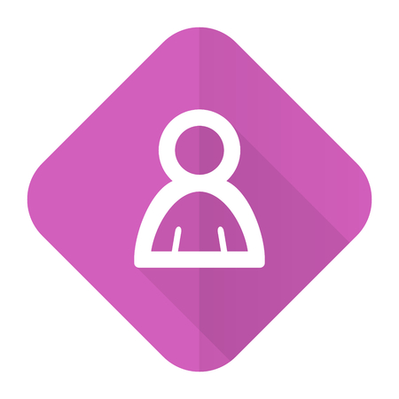 mms icon: person pink flat icon