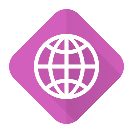parallels: earth pink flat icon