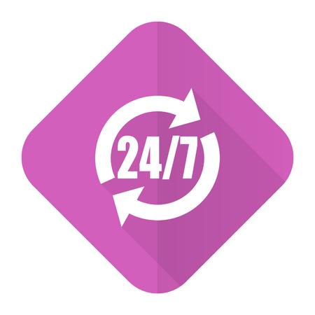 service pink flat icon photo