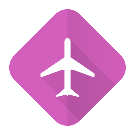 plane pink flat icon airport sign photo