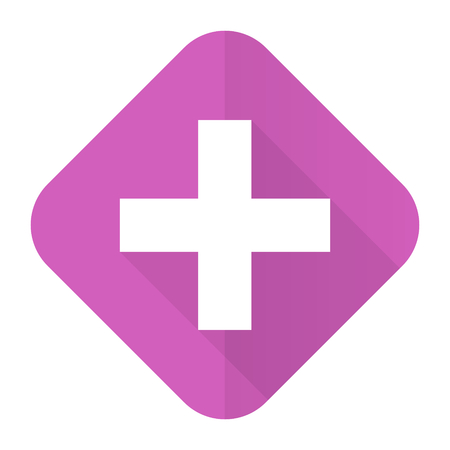 plus pink flat icon cross sign photo